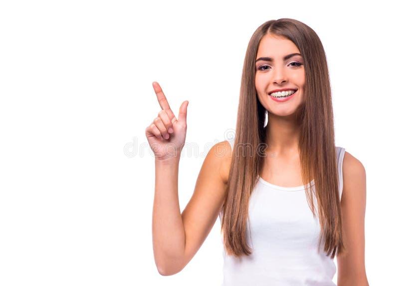 Femme avec des supports photo libre de droits
