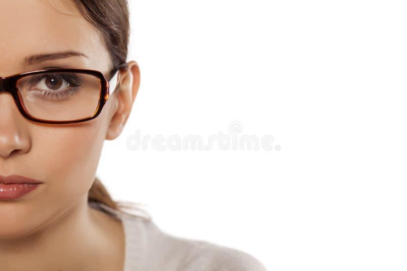 Femme avec des verres photos libres de droits