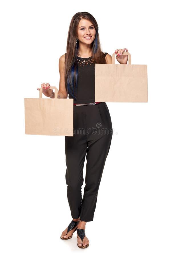 Femme avec deux paumes ouvertes de main photos stock