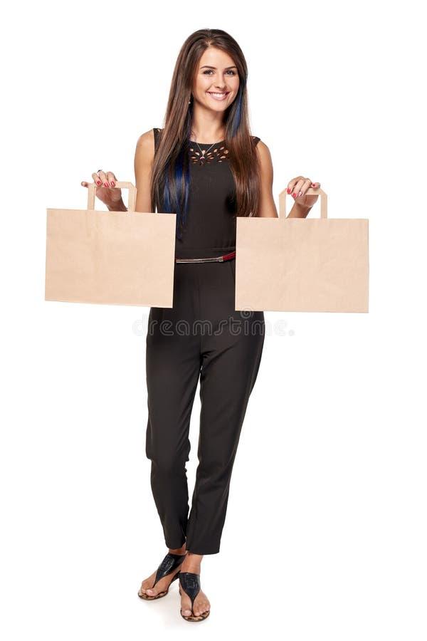 Femme avec deux paumes ouvertes de main photographie stock libre de droits