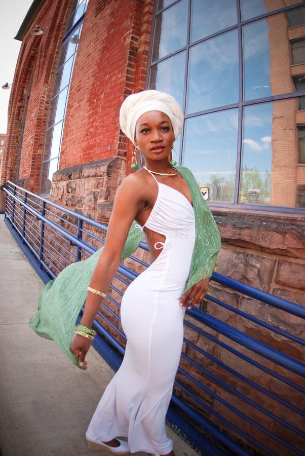 Femme avec l'écharpe 10 photos stock