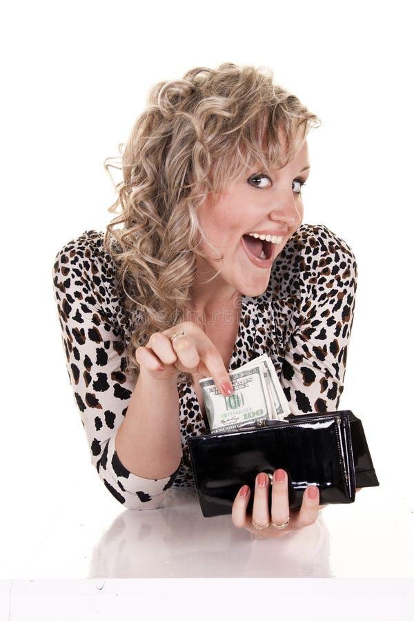 Femme avec l'argent comptant photos stock