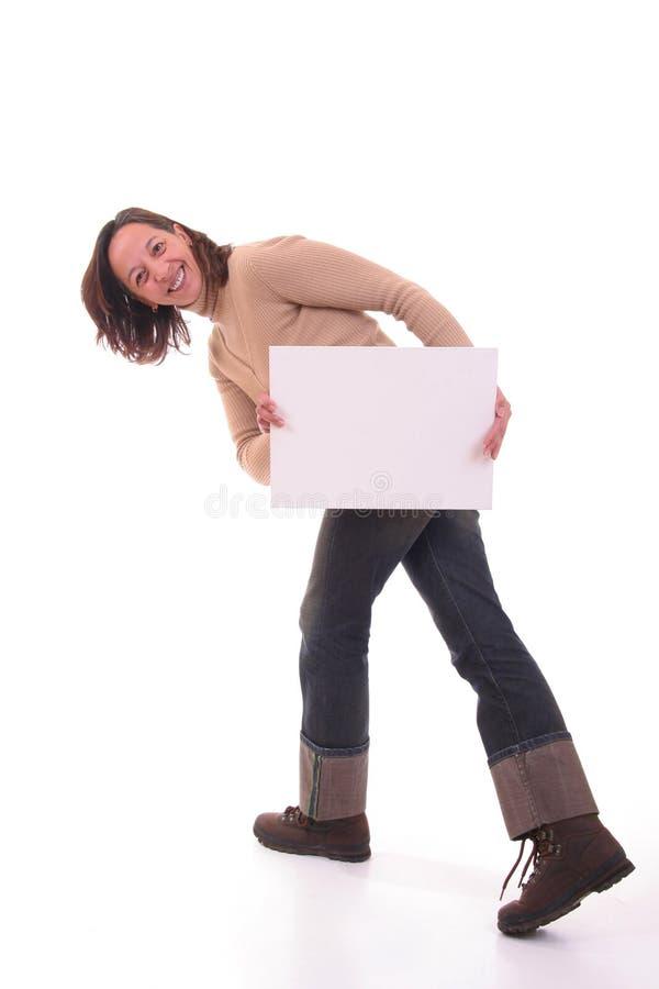 Femme avec la carte II photo stock