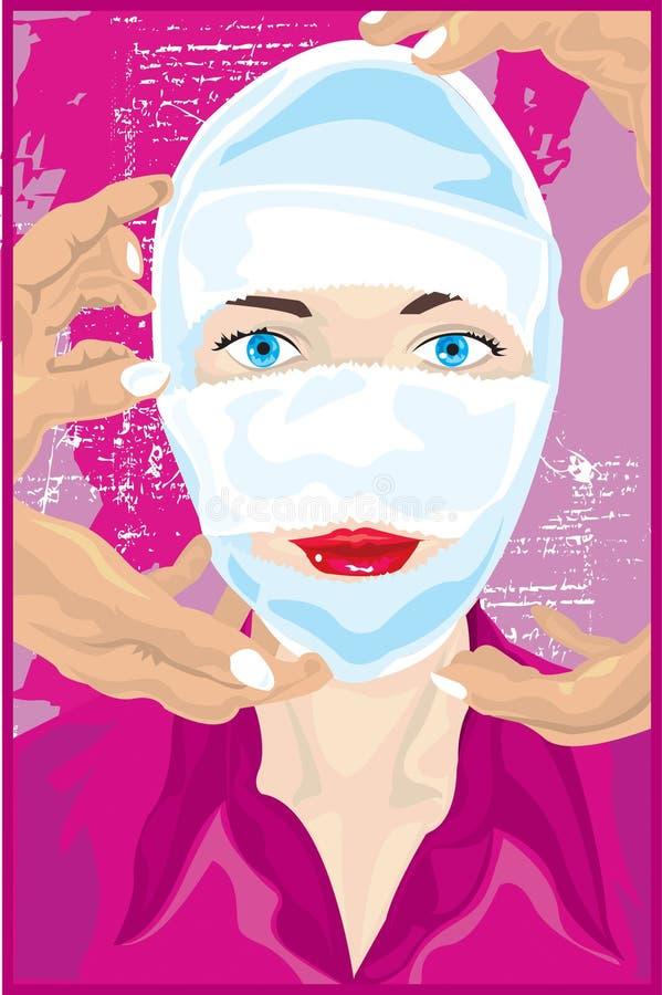 Femme avec la chirurgie plastique illustration libre de droits