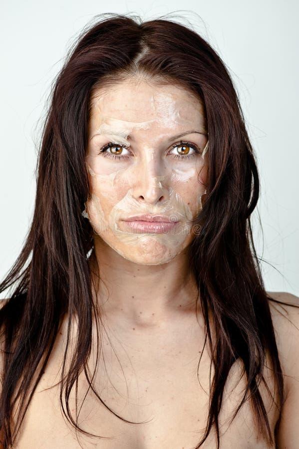 Femme avec la peau d'écaillement photo stock