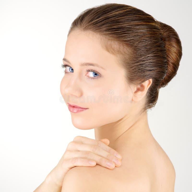 Femme avec la peau fraîche propre image libre de droits