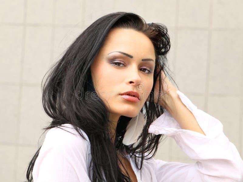 Femme avec la peau saine photographie stock libre de droits
