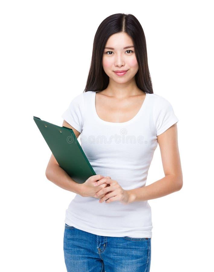 Download Femme avec la planchette photo stock. Image du document - 45365658