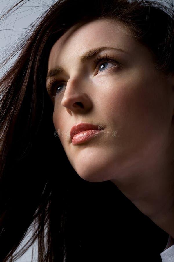 Femme avec le beau cheveu photo libre de droits
