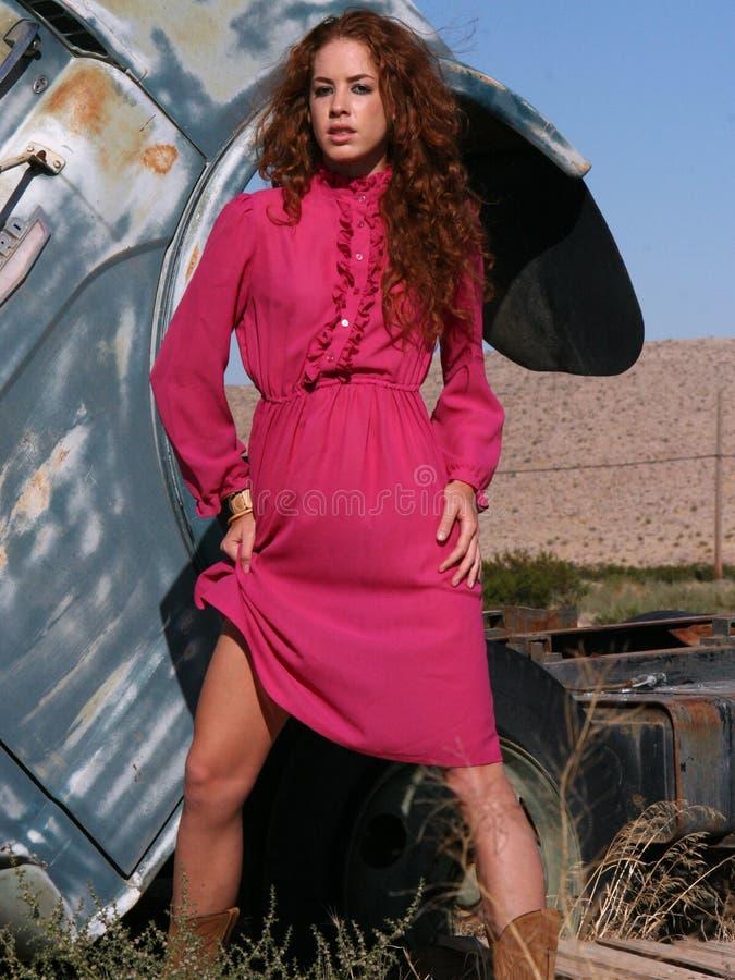 Femme avec le beau cheveu rouge photos libres de droits