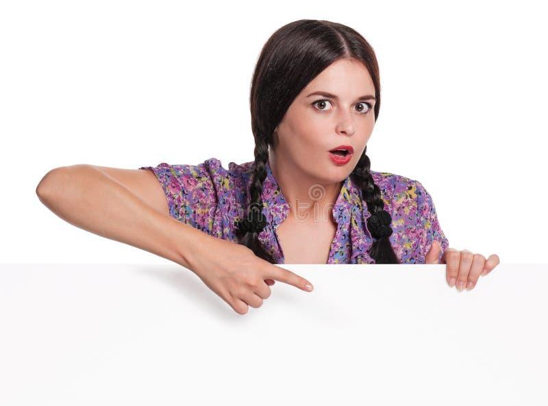 Femme avec le blanc photographie stock libre de droits