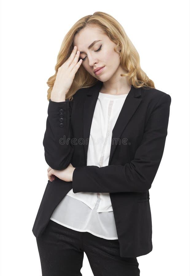 Download Femme avec le mal de tête image stock. Image du enfoncé - 76078027