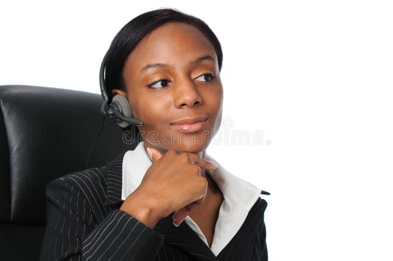 Femme avec le positionnement de tête photos libres de droits