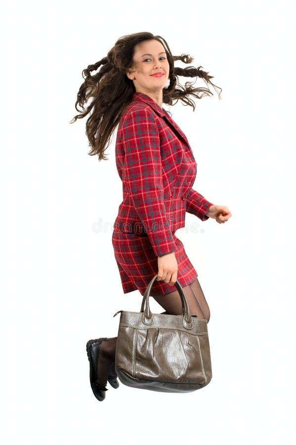 Femme avec le sac image libre de droits
