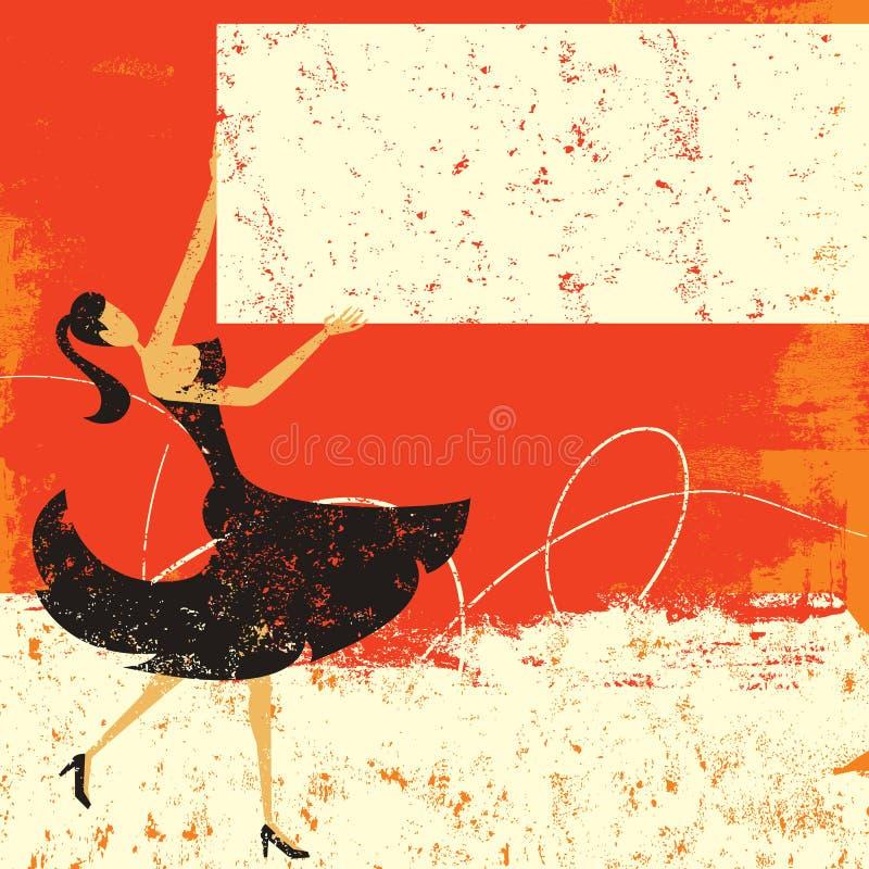 Femme avec le signe de publicité vide illustration libre de droits