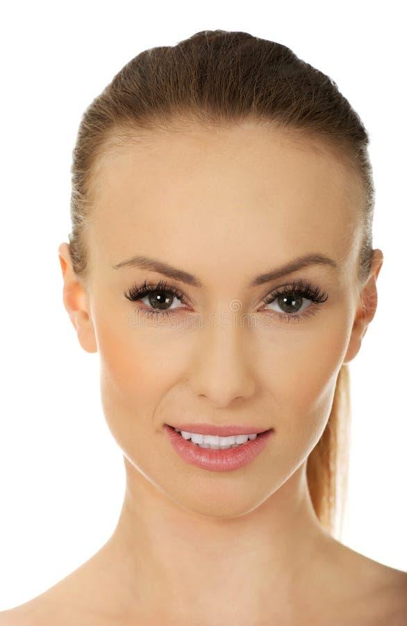 Femme avec le visage de beauté photographie stock
