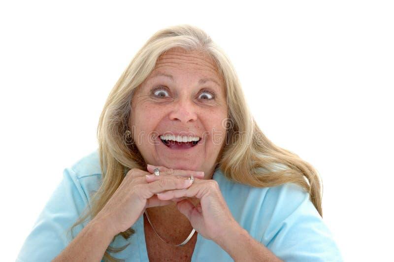 Femme avec plaisir drôle image libre de droits