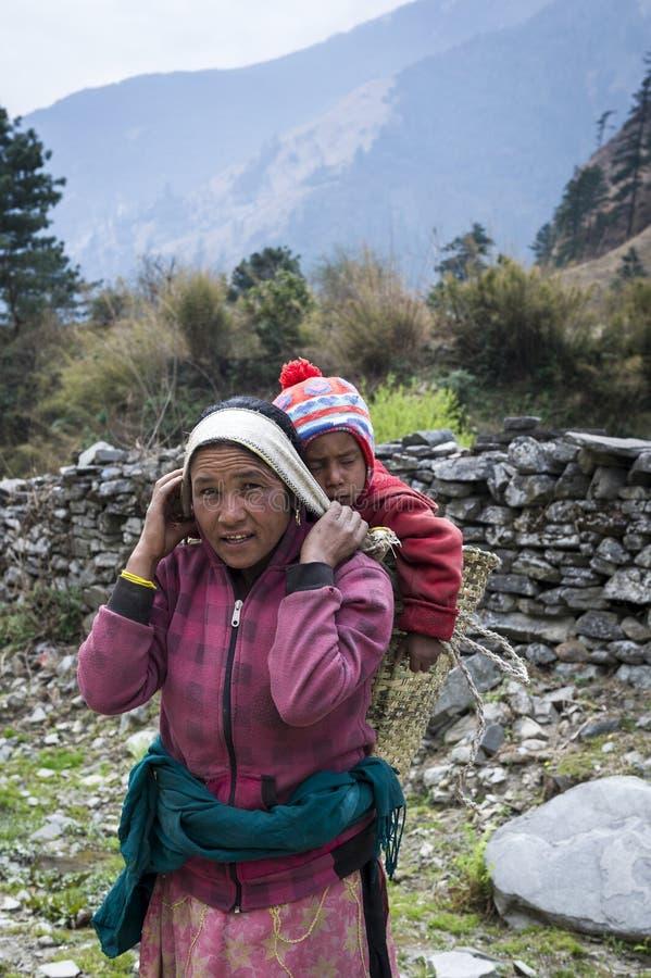 Femme avec son enfant photos libres de droits