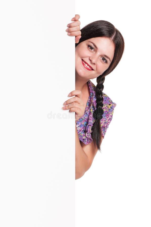 Femme avec un blanc image libre de droits