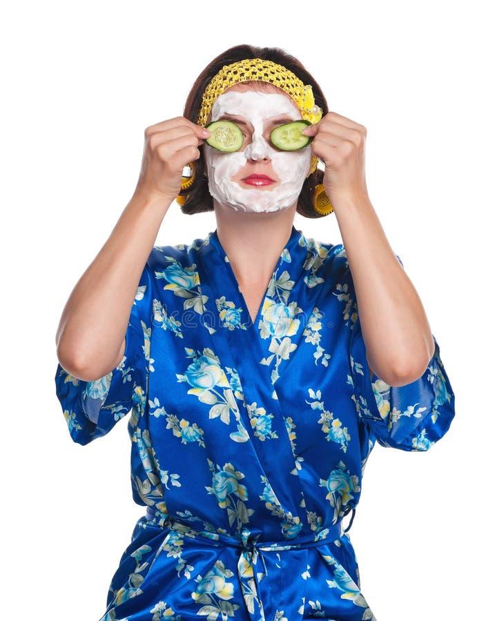 Femme avec un masque photographie stock libre de droits