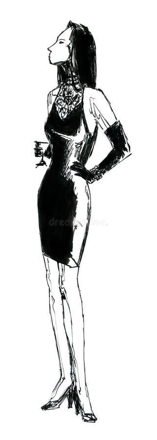 Femme avec une glace illustration libre de droits