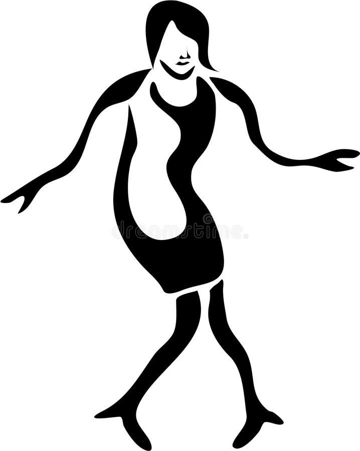 Femme bancal illustration stock