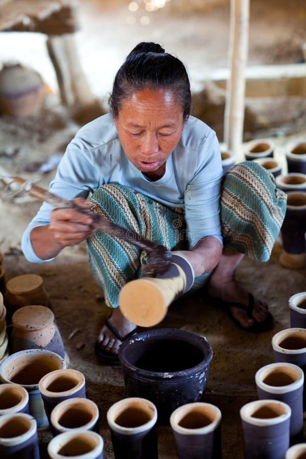 Femme birmanne, Myanmar images libres de droits