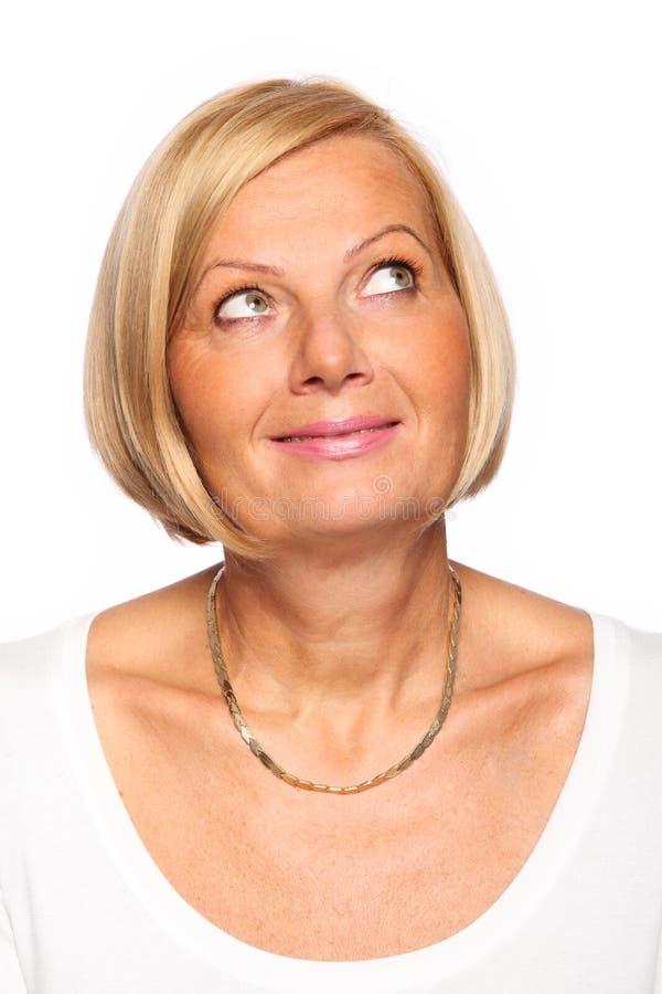 Femme blanc photo libre de droits