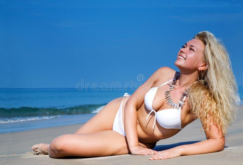 femme blanche de beau bikini images stock