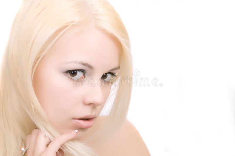 Femme blond photographie stock