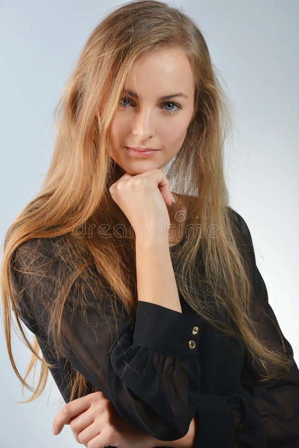 Femme blonde photo stock