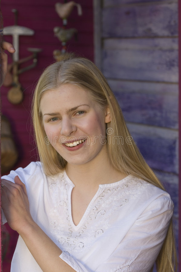 Femme blonde attirante photos stock