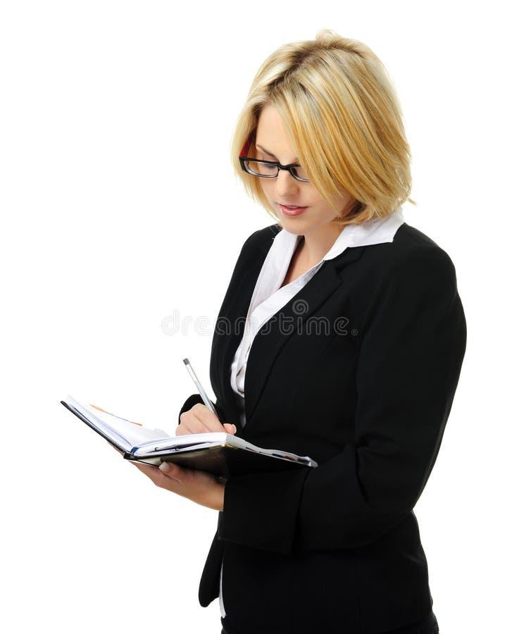 Femme blonde attirante d'affaires images libres de droits
