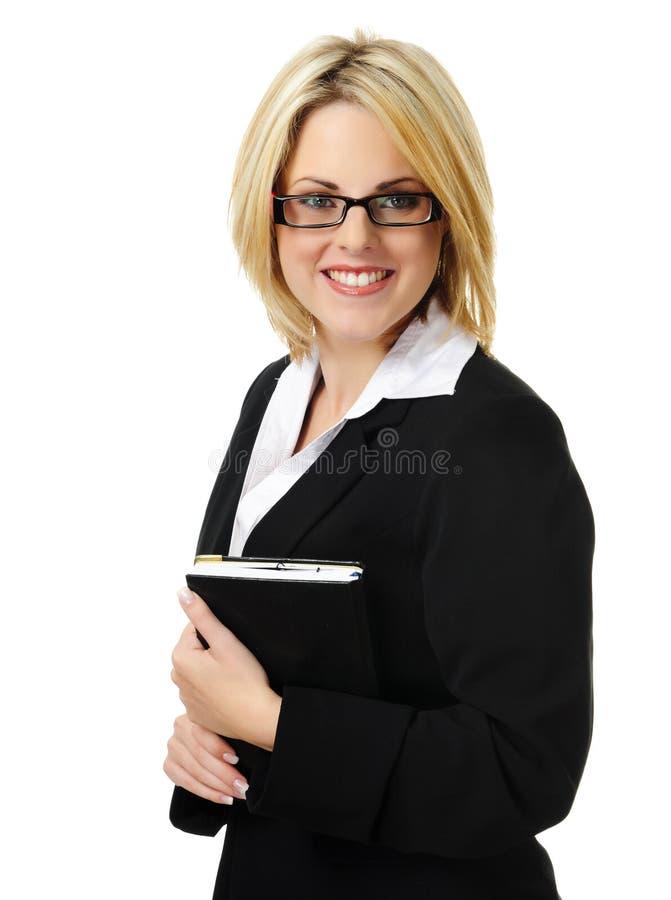 Femme blonde attirante d'affaires photo libre de droits