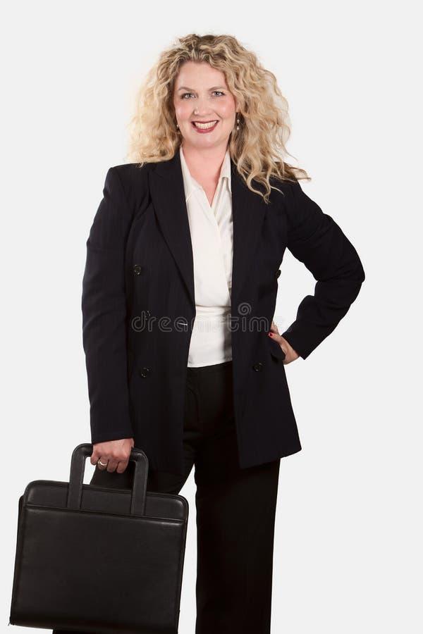 Femme blonde caucasienne d'affaires images libres de droits