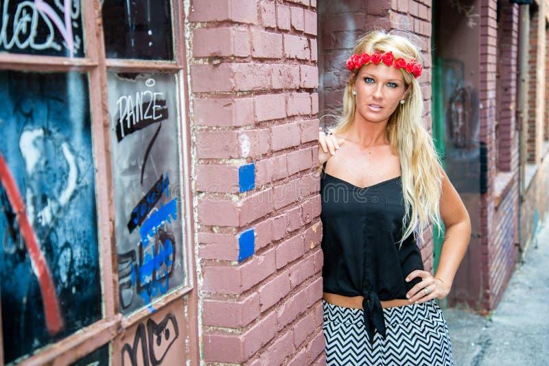 Femme blonde de fille images stock