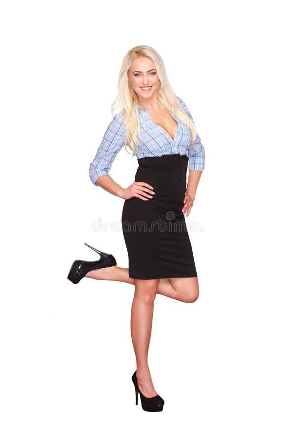 Femme blonde occasionnelle image libre de droits