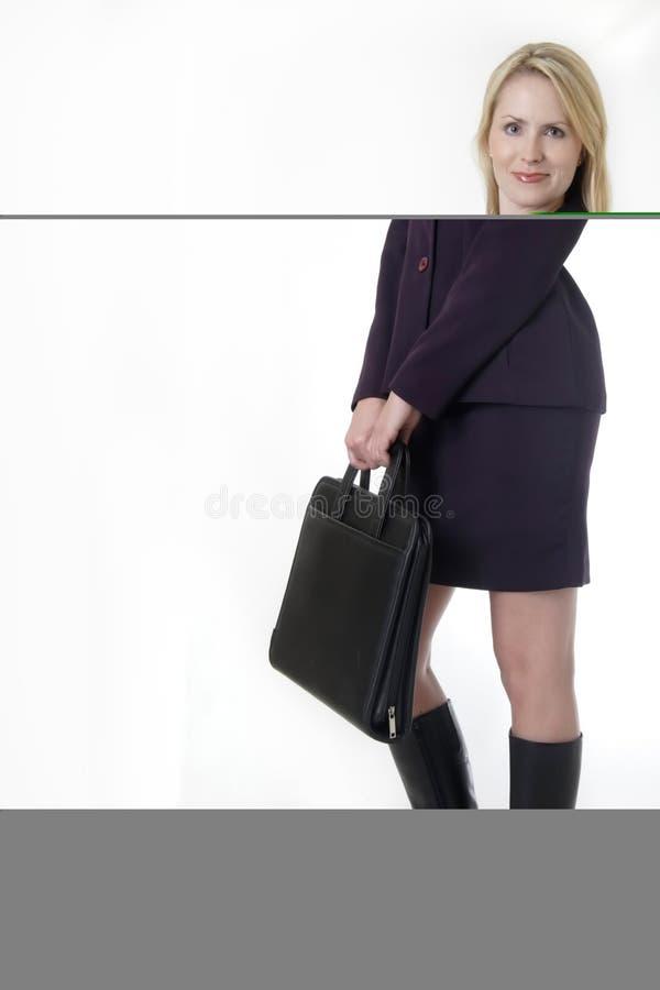 Femme blonde réussie d'affaires image stock