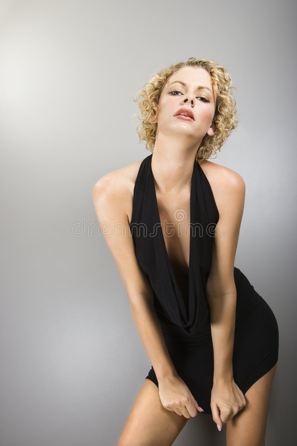 Femme blonde sexy. images libres de droits