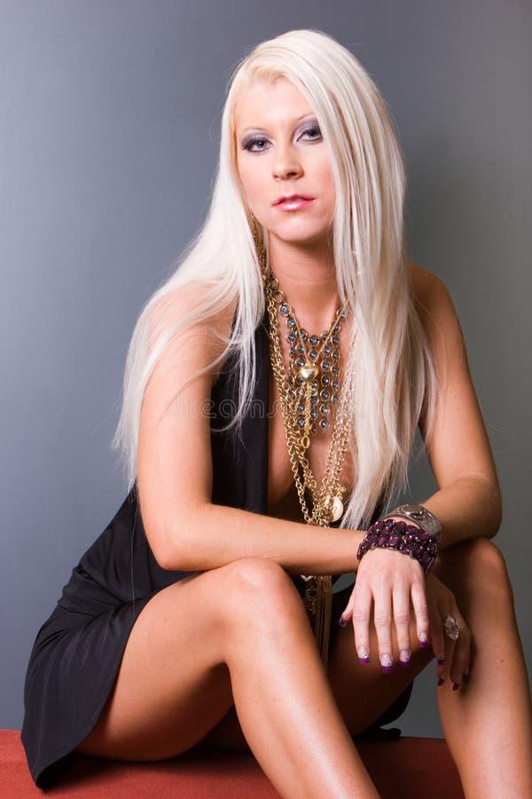 Femme Blonde Sexy Photos libres de droits