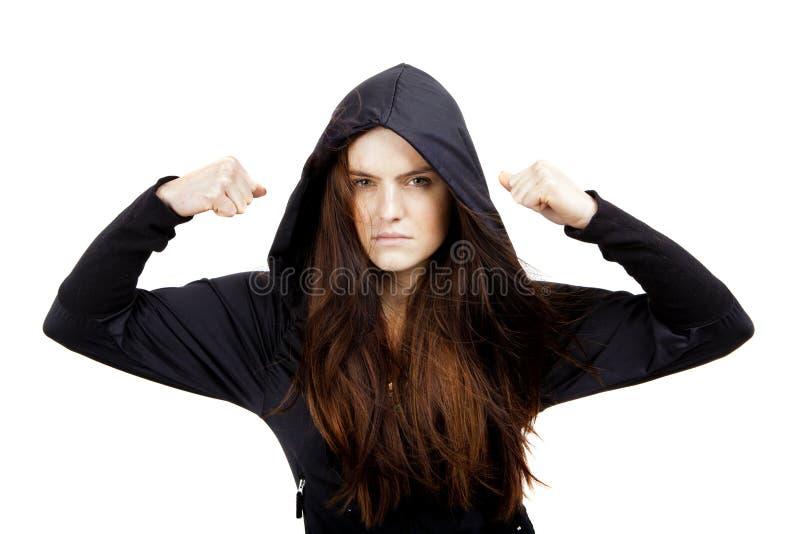 Femme bouleversée de jeunes image libre de droits