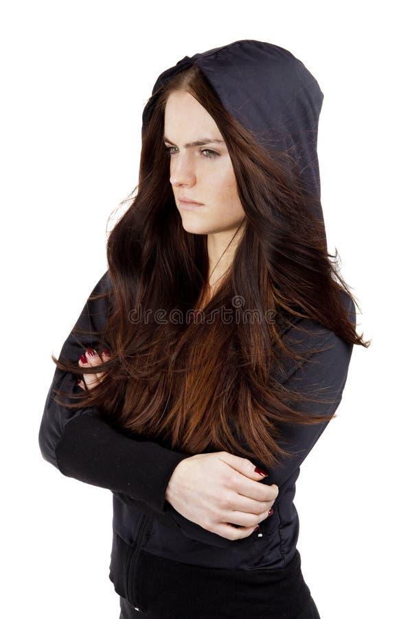 Femme bouleversée de jeunes photo stock