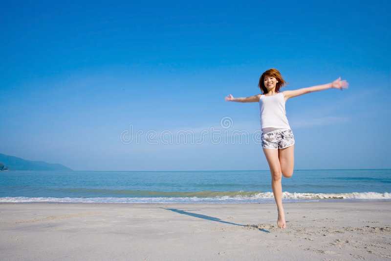 Femme branchante heureuse photo libre de droits