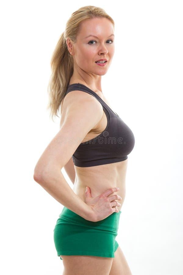 Femme caucasienne en bonne santé photos stock
