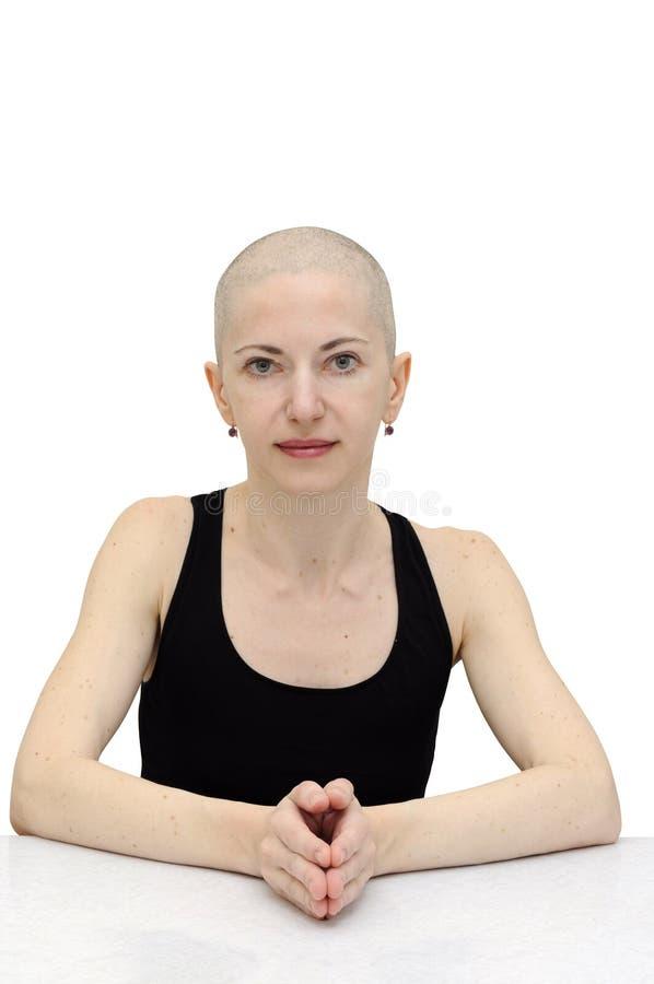 Femme chauve décontractée photos stock