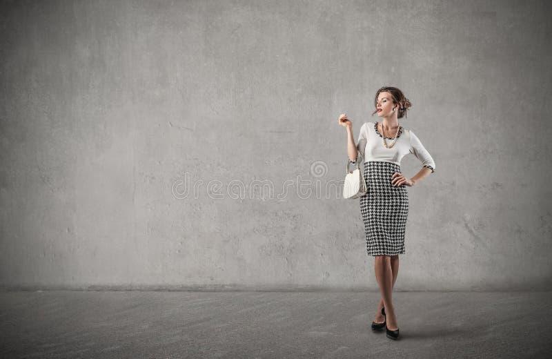 Femme chic photo libre de droits