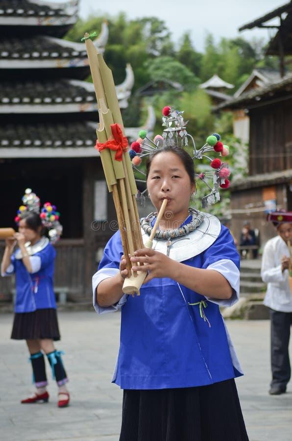 Femme chinoise de minorité photographie stock