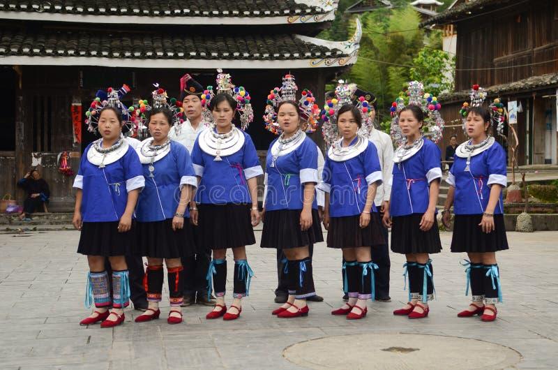 Femme chinoise de village de minorité images libres de droits