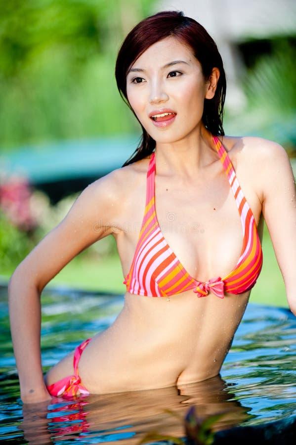 Femme chinoise sexy photo libre de droits