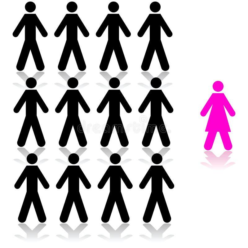 Femme choisie illustration libre de droits